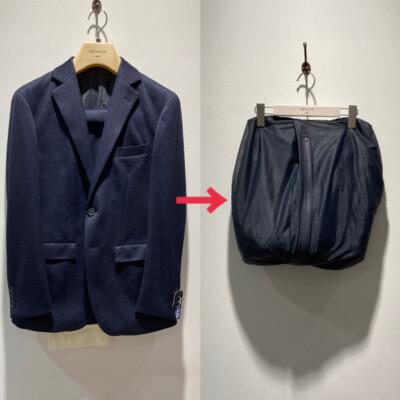 洗濯ネットになるスーツ!?