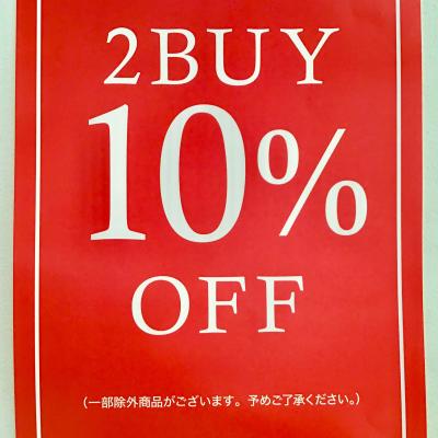 2Buy10%OFF★★★
