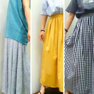 ☆初夏に着たい☆ 新作スカートが揃いました♪