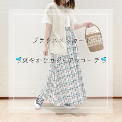 リネン素材で夏らしいスタイル☆