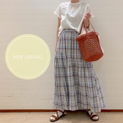着回し2days🌻夏らしいスカートが入荷✨