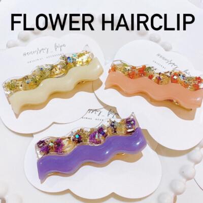 春らしさ🌷押し花のヘアクリップ
